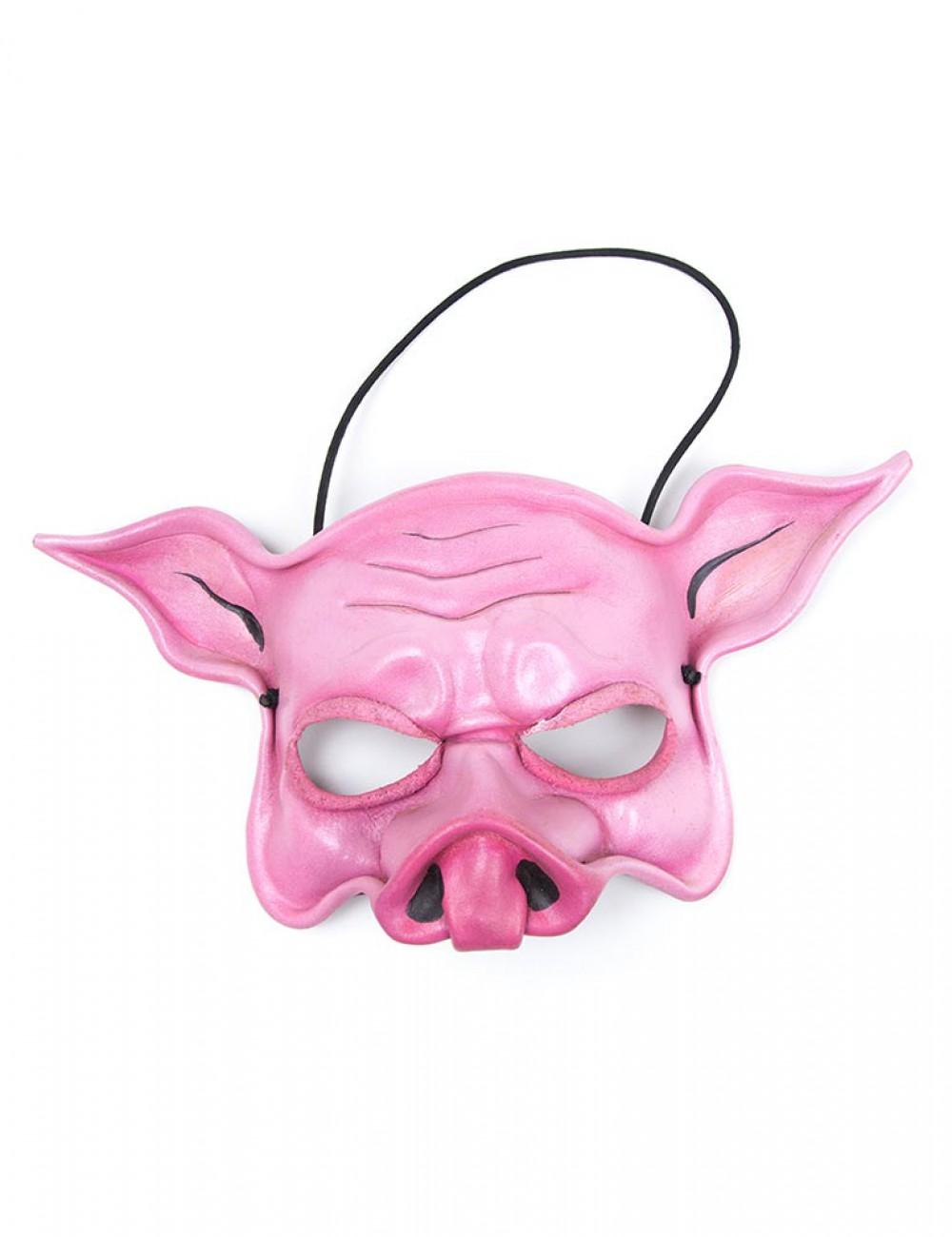 Pink Pig Face Mask