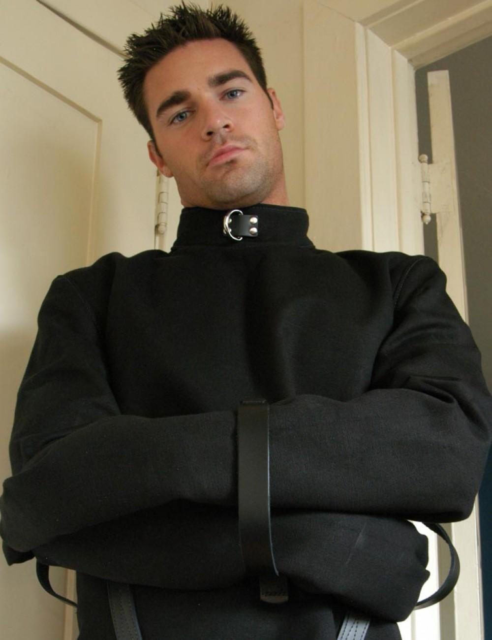 Black Canvas Straitjacket w/ Leather Straps