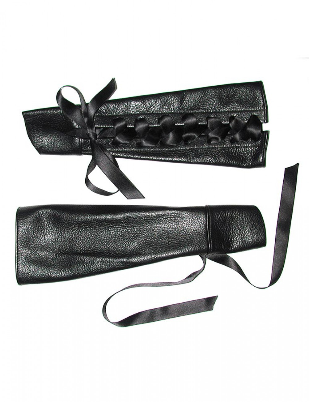 Lace-up Gauntlets with Ribbon