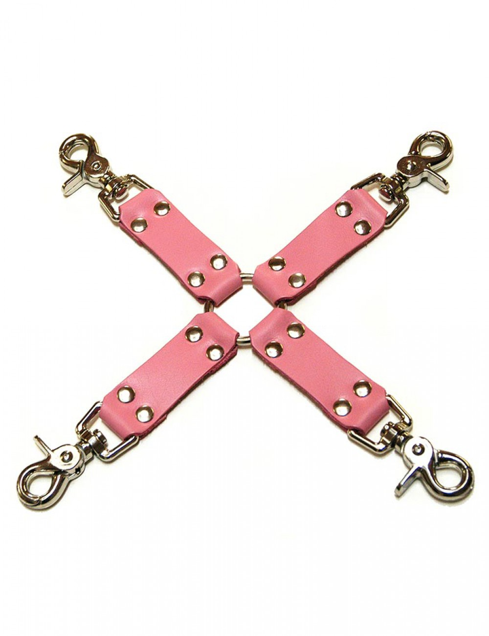 Pink Leather Hog Tie