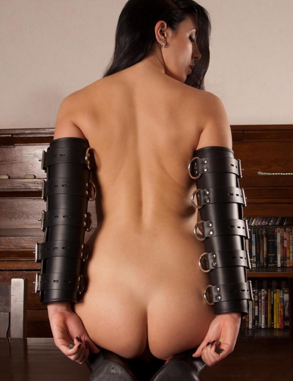 Premium Leather Arm Splints with Locking Buckles