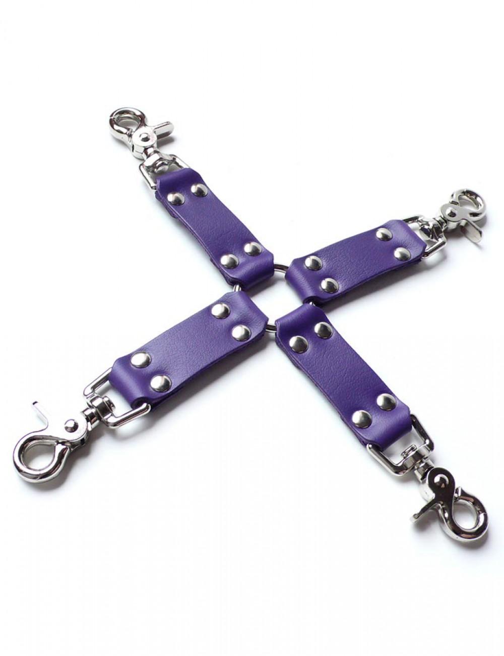 Purple Leather Hog Tie