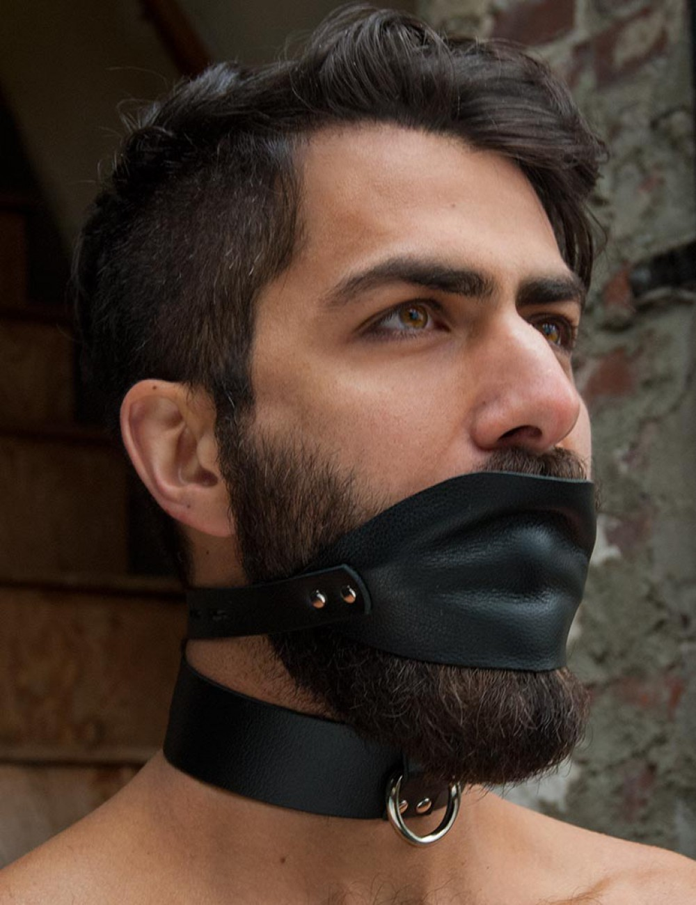 Over the Mouth Gag with Silicone Gag