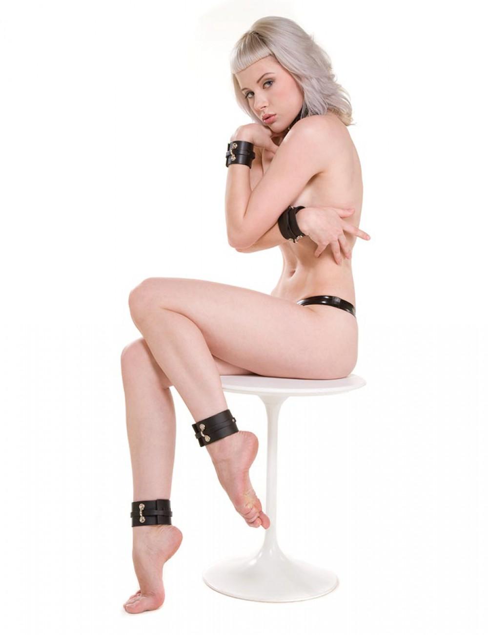KinkLab Bondage Basics Leather Ankle Cuffs