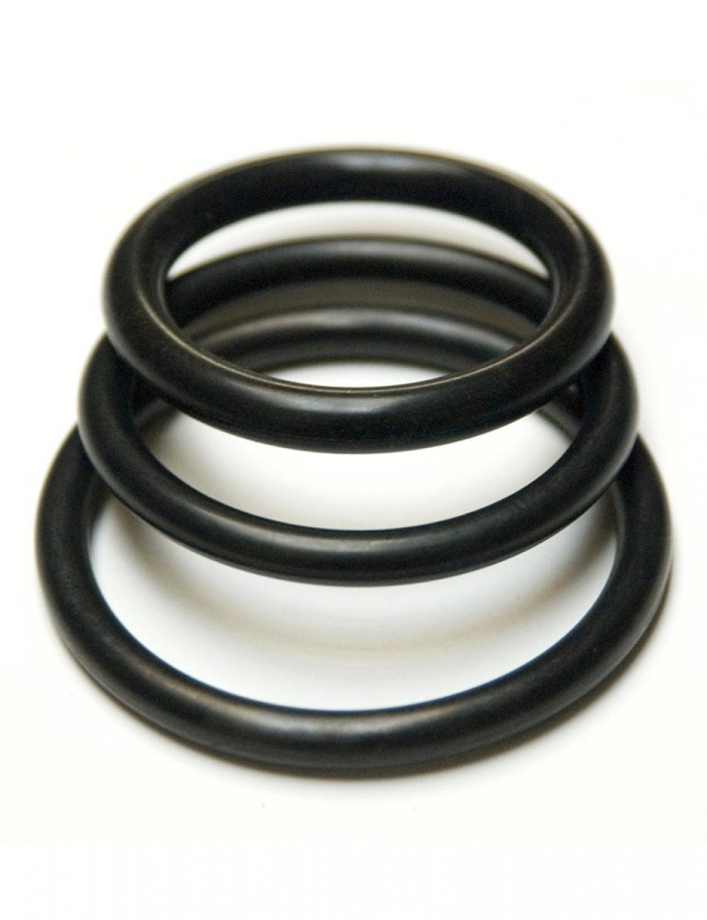 KinkLab Rubber Cock Rings, 3-Pack