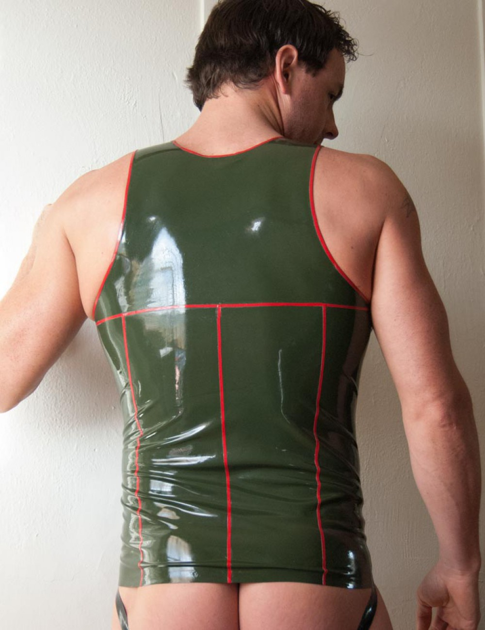 Men's Military Latex Tank Top