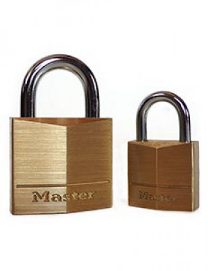 Master Lock Keyed Padlock, Brass