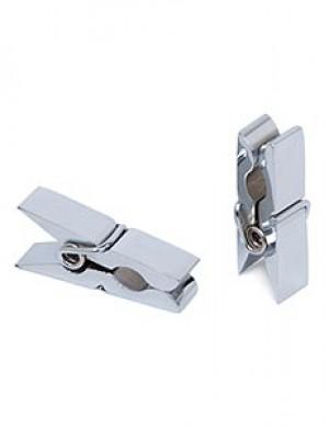 Chrome Mini-Clothespin