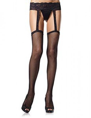 Leg Avenue One-Piece Garter Belt/Stockings Set