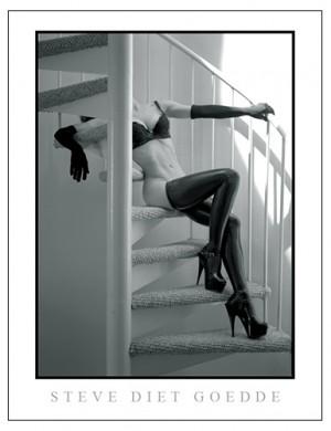 Steve Diet Goedde Poster, Spiral Staircase