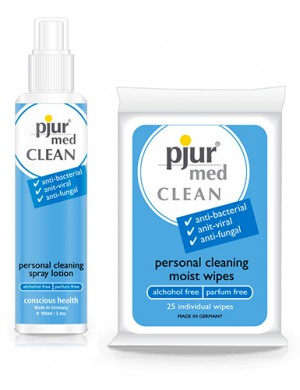 Pjur Med Clean Intimacy Wipes/Spray Lotion