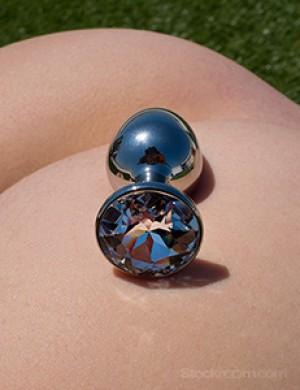 Julian Snelling Rosebuds Jeweled Anal Plug w/ Swarovski Crystal