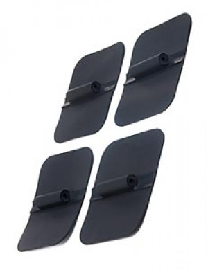 Black Electrode Pads, Set of 4