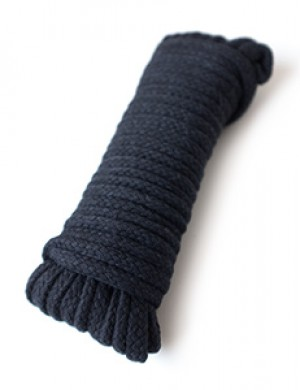 Cotton Bondage Rope, 5mm x 30ft, Black