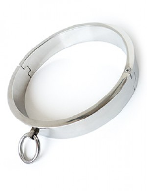 Heavy Polished Stainless Steel Collar