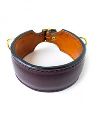 Martingale Handmade Collar, Leather, Double D-Ring