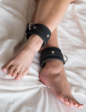 Silicone Locking Ankle Cuffs (Pair)
