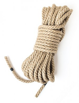 Hemp Bondage Rope by Twisted Monk, 6mm, 30ft
