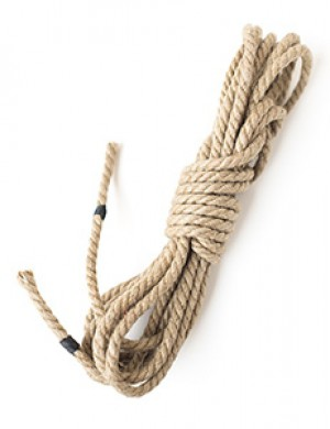 Hemp Bondage Rope by Twisted Monk, 4mm, 15ft, Natural