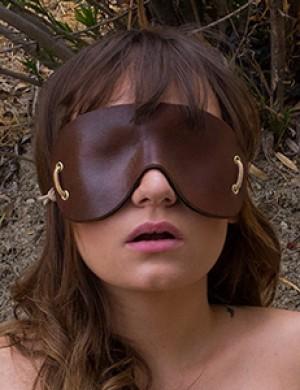 Molded Leather Blindfold