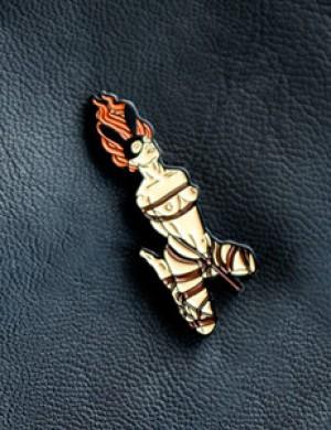 Rope Bunny Enamel Pin