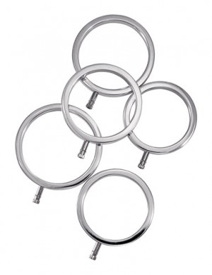 ElectraStim Solid Metal Cock Ring Set, 5 Sizes
