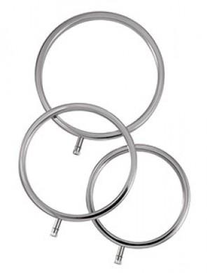 ElectraStim Solid Metal Scrotal Ring Set, 3 Sizes