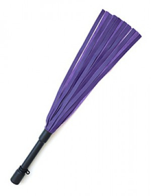 Purple Devil Leather Flogger