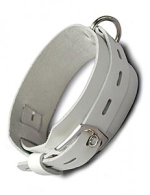 White Deluxe Buckling Collar