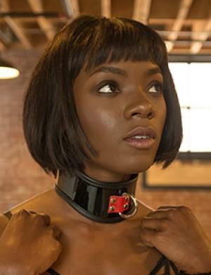 Firecracker Patent Leather Posture Collar (R)