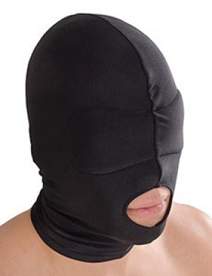 Spandex Hood with Blindfold and Mouth Hole