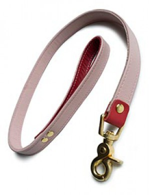 Premium Garment Leather Leash w/ 18k Gold Plated Hardware