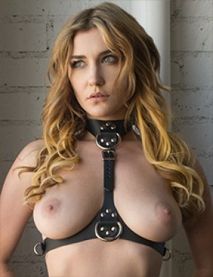 Vondage Vegan Leather Bust Harness