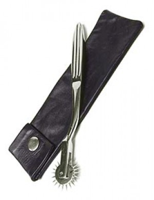 KinkLab Wartenberg Pinwheel with Leather Sheath