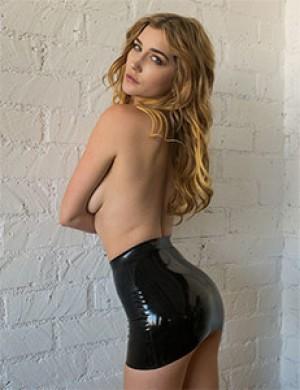 Latex Micro Mini Skirt