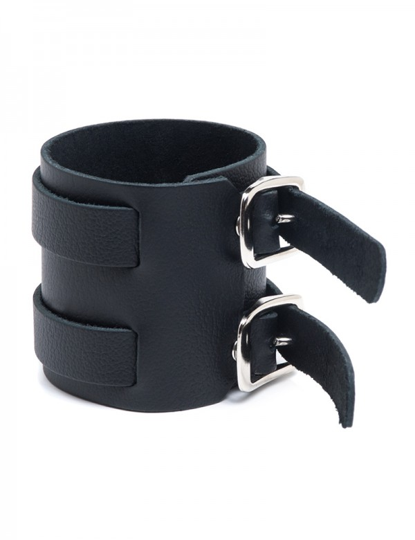 2-Strap Leather Wrist Band