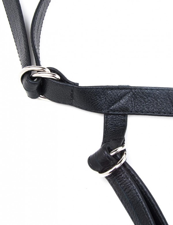 Two strap dildo harness