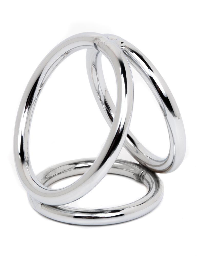 Chrome Triple Ring