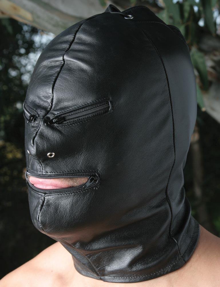 Jack the Zipper Leather Hood