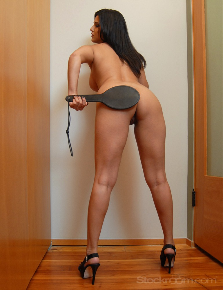 Round Leather Paddle Sunny Leone