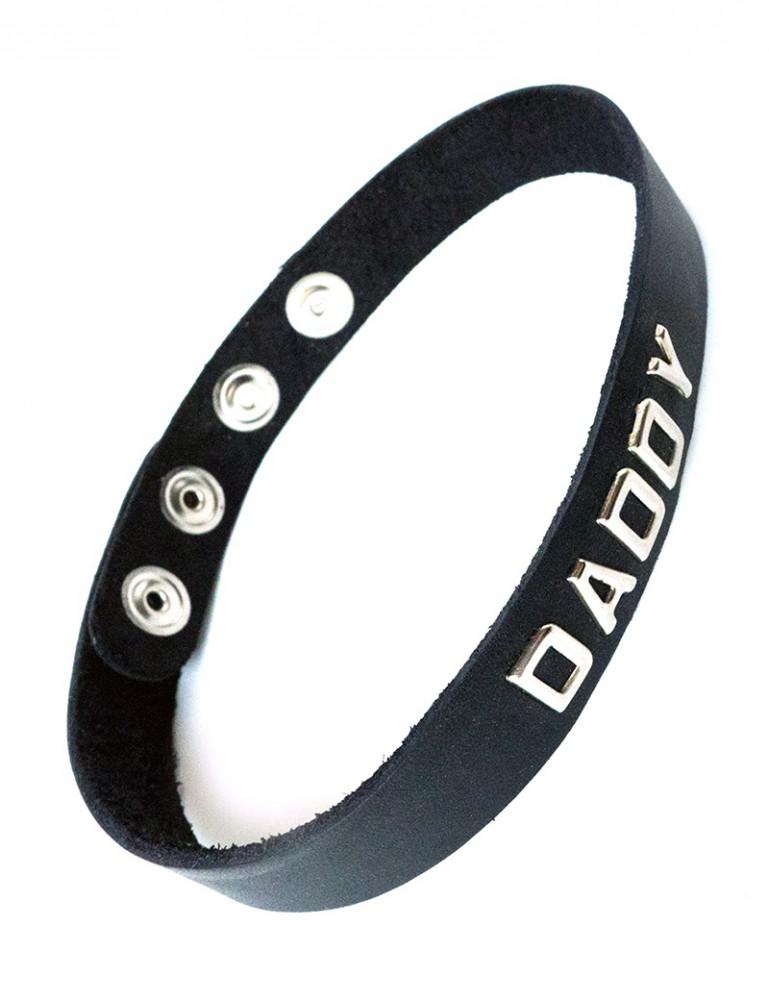 Leather Word Collar - Mistress, Daddy, Bitch