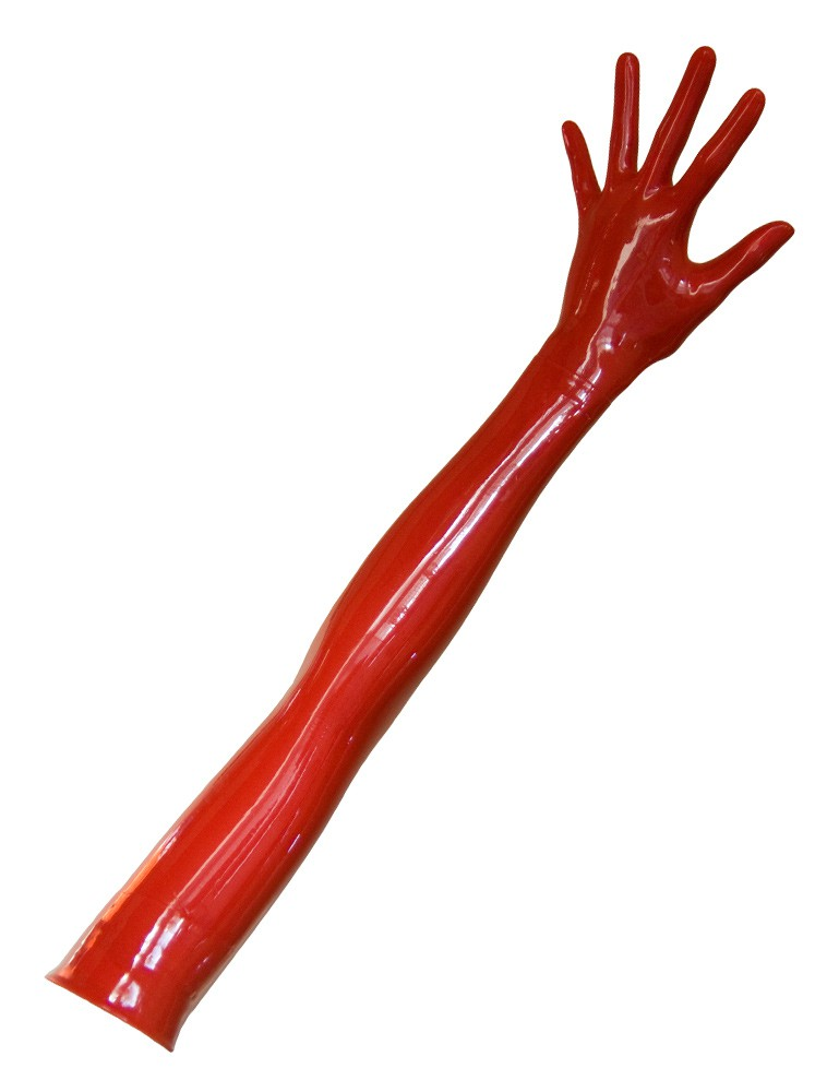 Opera Length Latex Gloves, Red