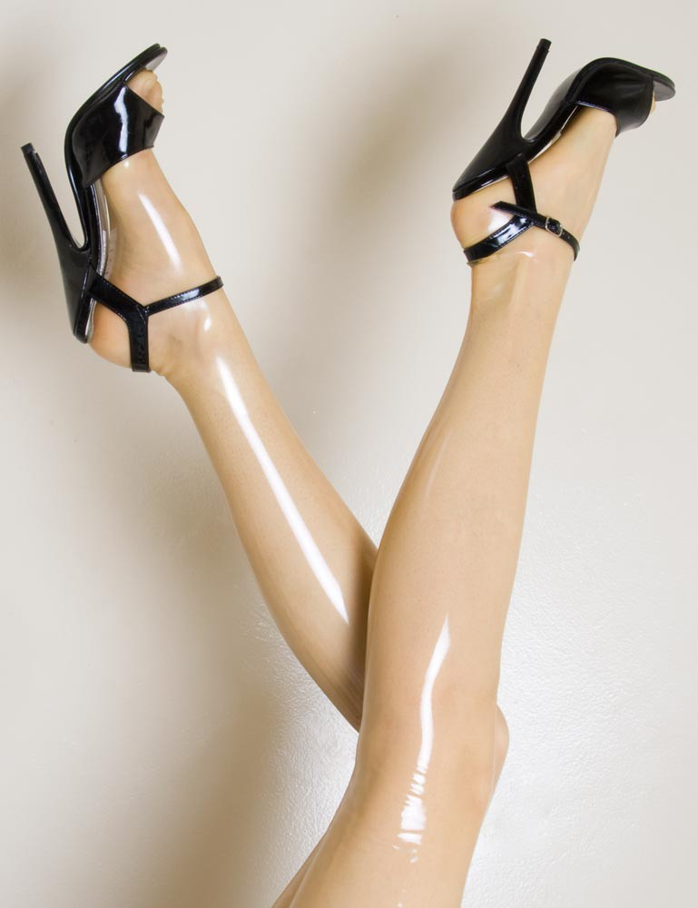 Molded Latex Thigh-High Stockings