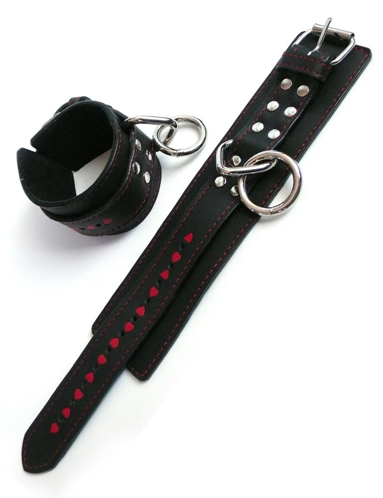 Wrist Restraints with Heart Inlay