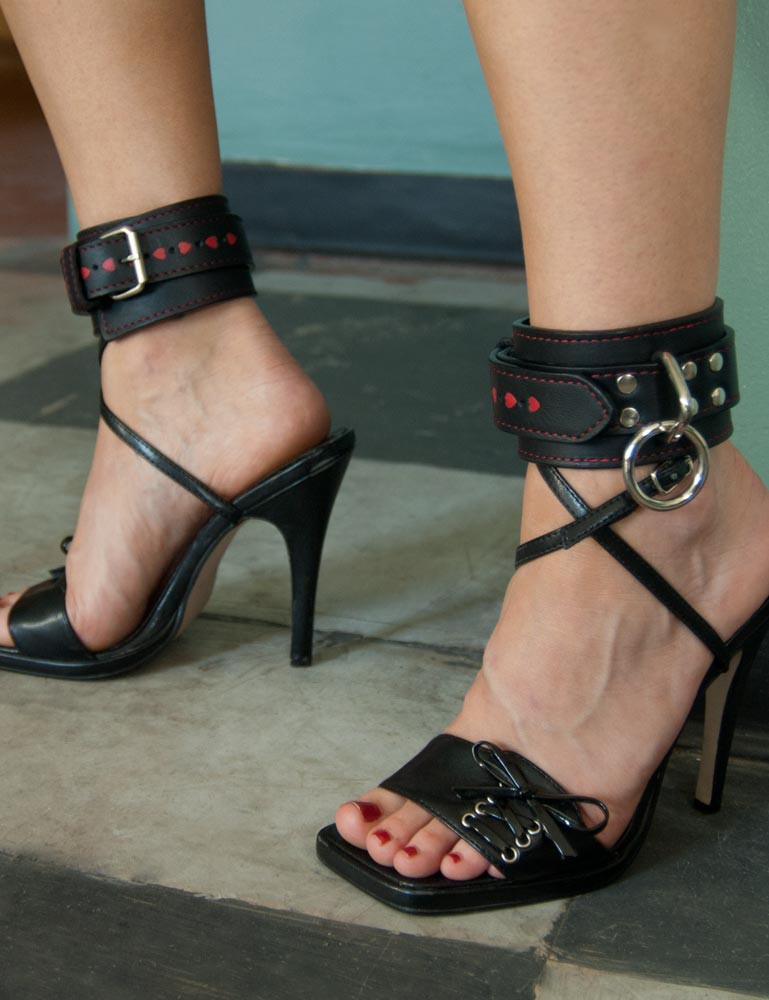 Ankle Restraints with Heart Inlay