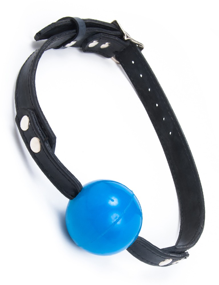 Rubber Ball Gag with Buckling Rubber Strap
