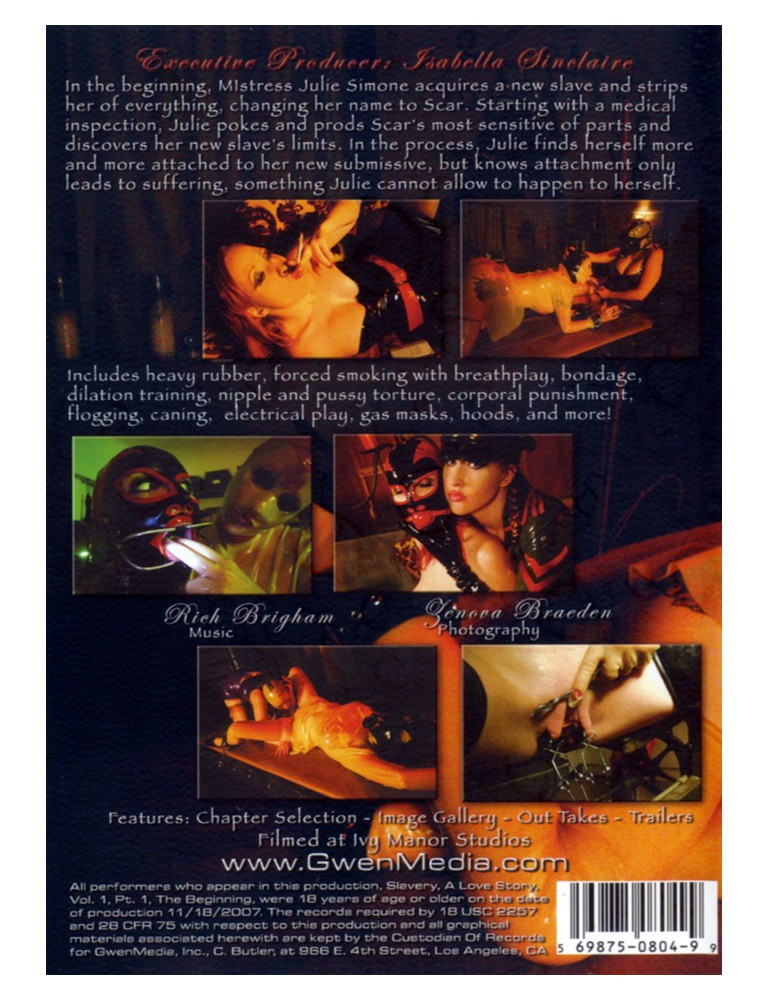 GwenMedia Slavery: A Love Story Vol. 1 Part 1 - Julie Simone DVD