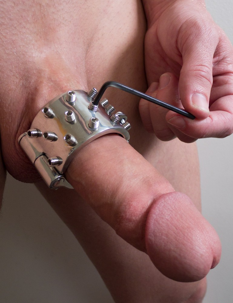 Mike's Spikes CBT Ball Stretcher Torture Device