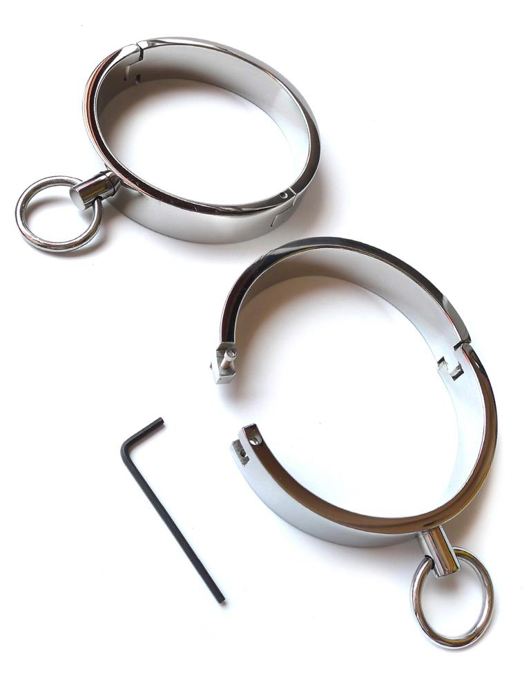 Heavy Duty Stainless Steel Ankle Cuffs, Small