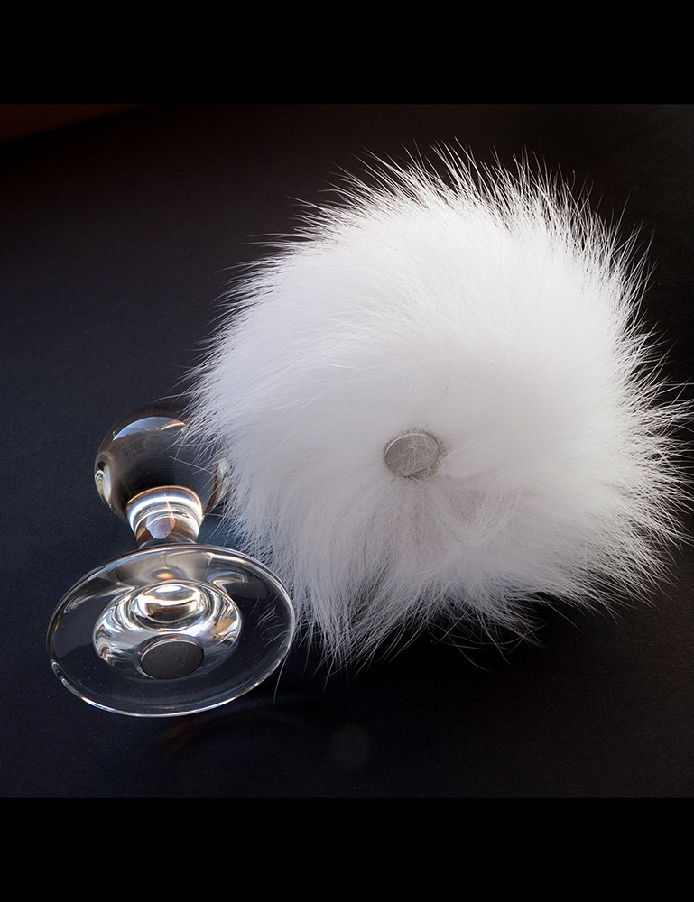 Bunny Tail Glass Butt Plug